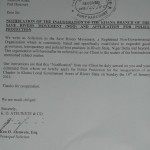 Acknowledged request for police permit
