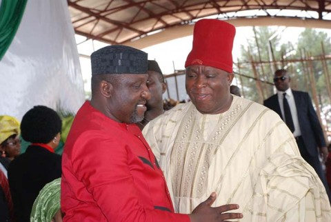 Governor Okorocha (left) and Chief Umeh when the going was good.