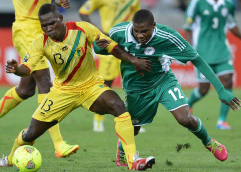 Mali vs Nigeria at the ongoing CHAN 2014