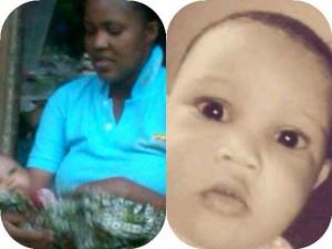 Late Mrs Ayoka Banire and her baby, Aisha
