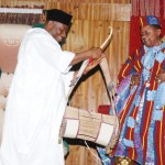 President Goodluck Jonathan with Alaafin of Oyo