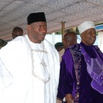 President Goodluck Jonathan with Ooni of Ife