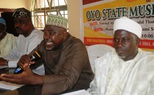 Alhaji Ishaq Kunle Sanni Addressing Newsmen In Ibadan