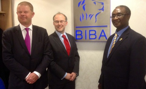 R-L: President of the Nigerian Council of Registered Insurance Brokers, Mr. Ayodapo Shoderu; Executive Director of British Insurance Brokers Association (BIBA), Graeme Trudgill, and Chief Executive of BIBA, Steve White, during a networking visit by the NCRIB President to BIBA office in London.