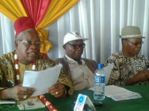 Pensioners address News Conference on Monday