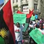 members of Biafra protesers
