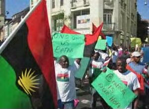 members of Biafra protesers