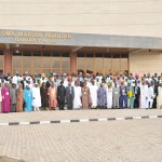 GROUP PHOTOGRAPH OF DELEGATES TO THE NATIONAL CONFERENCE WITH PRESIDENT GOODLUCK JONATHAN AND VICE PRESIDENT NAMADI SAMBO