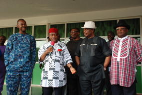 (L-R) Governors of Enugu,  State, Barrister Sullivan Chime, Theordor Orji, of Abia, Willy Obiano, of Anambra, Deputy Governor of Ebonyi, Dave Umeahi,