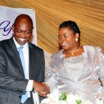 L.R. MR. TOKUNBO TALABI CHAIRMAN AND MRS CECILIA OSIPITAN MD.CEO OF GREAT NIGERIA INSURANCE PLC AT THE COMPANY'S 48TH AGM