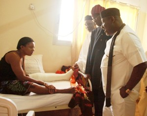 APC governors visiting victims of Abuja bomb blast