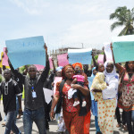 Lagos Group Protest Boko Haram's Abduction Of 234 School Children