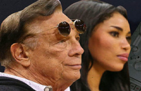 Donald Sterling and his girlfriend Stiviano