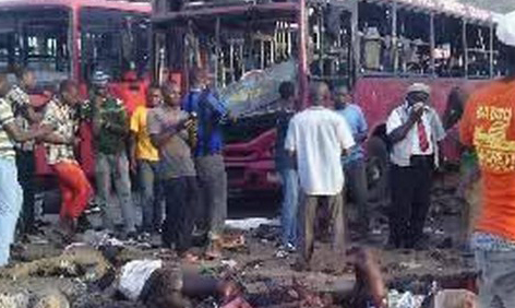 The scene of the Abuja bomb blast