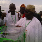 Sen. Iyiola Omisore Casts his votes during PDP governorship primaries
