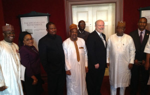 Gov. Yari of Zamfara (2nd from right) and Maryland state secretary John Mcdonough (3rd from right) and other Zamfara state delegation to Maryland, USA. Photo by African Examiner