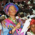 Dora Akunyili looks sick while making a presentation during the ongoing national conference