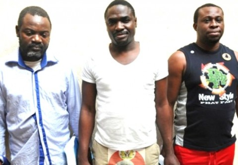 L-R: Danbaba, Mohammed & Nkwucha arrested by the EFCC