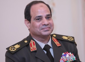 Abdel Fattah el-Sisi, the former Egyptian Army Chief leads in presidential election