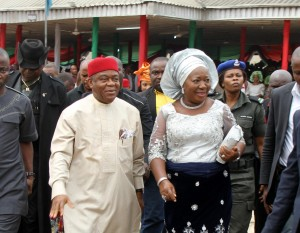 Chief Mrs. Odochi Orji and her husband Governor T.A. Orji