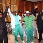 Jonathan Celebrates Fayose And Super Eagles Victories In Aso Rock