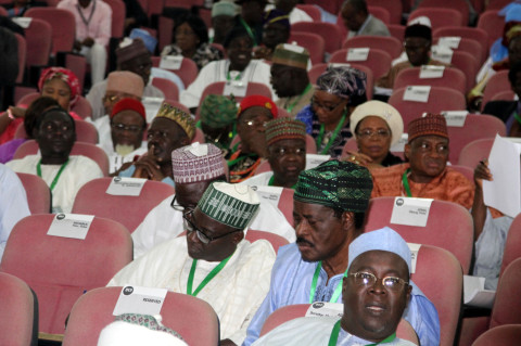 cross section of members of the National Conference