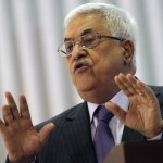 Palestinian President Mahmoud Abbas speaks during an event to mark Laylat al-Qadr in the West Bank city of Ramallah