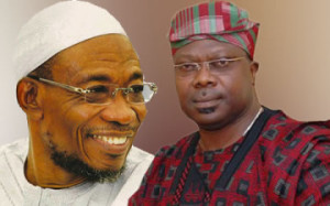 Governor Aregbesola of Osun state (L) and Sen. Iyiola Omisore