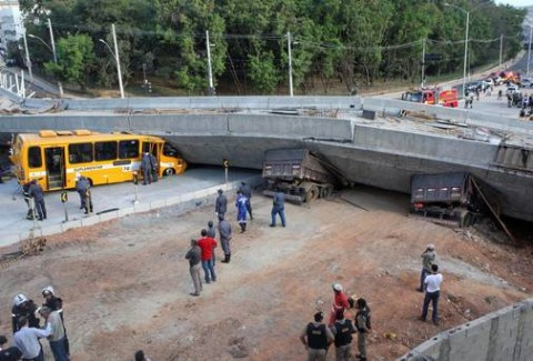 Flyover Gives Way in Brazil World Cup Host City