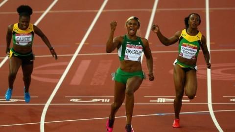 Glasgow 2014: Blessing Okagbare Wins women's 100m gold