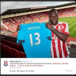 Hughes Tips Moses to Shine Again, as Chelsea Striker Joins Stoke City