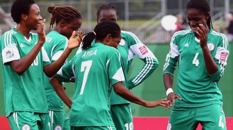 Super Falconets Cebrate their second goal against New Zealand @ Canada FIFA U-20 women world cup