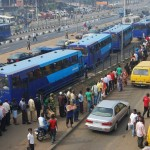 Unpaid Salaries: BRT Drivers Protest In Lagos