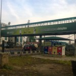 Ojota, Lagos Pedestrian Bridge Pole Gives Way To Accident