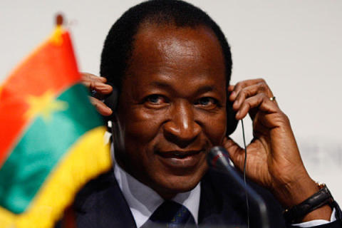 Burkina Faso's President, Blaise Compaore