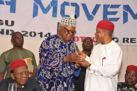 Gov. Orji of Abia Honoured in Enugu by Igbo groups