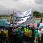 Thousands Protest In Lagos Over PVC Flop