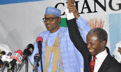 Gen. Buhari unveils Prof. Osibajo as his running mate for 2015 election
