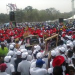 Huge crowd at Ambode's governorship rally