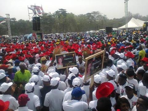 Huge crowd at Ambode's governorship rally