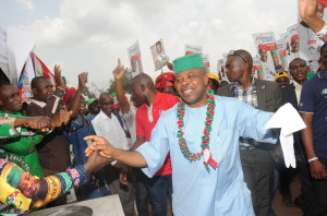 DSP Emeka  Ihedioha celebrating with Fans