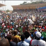 Huge Crowd storm Buhari's rally in Ekiti state