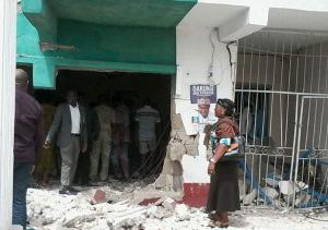Destroyed APC office in Okrika LGA