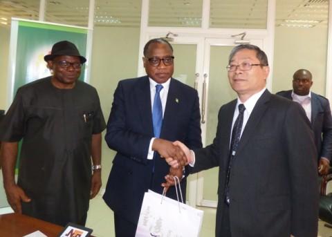 Director Trade, Minister of Trade Olusegun Aganga and Morgan Taiwan