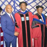 President/Vice Chancellor, Babcock University, Professor J.A. Kayode Makinde; Keynote Speaker and Chairman Heirs Holdings, Tony O. Elumelu CON; Immediate Past Governors of Lagos State, Babatunde R. Fashola SAN; Kano State, Engr. Dr. Rabiu M. Kwankwaso; Ekiti State, Dr. Kayode Fayemi at the Fourth Post Graduate Convocation and conferment of Honorary Doctorate Degrees of the Babcock University, Ilishan-Remo, Ogun State yesterday