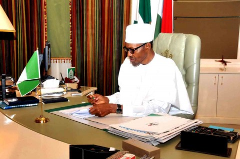 President Buhari resumes work at the Presidential Villa, Abuja/Photo: State House