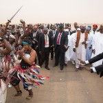 PIC 5. CULTURAL TROOPE WELCOMING PRESIDENT MUHAMMADU BUHARI DURING HIS ARRIVAL AT THE NIAMEY INTERNATIONAL AIRPORT NIGER REPUBLIC ON WEDNESDAY (2/6/15).