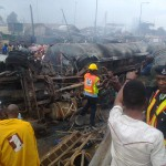 UPDATED: Tanker Explosion: 21 Cars, 44 Shops, 5 Houses, Others Burnt In Lagos