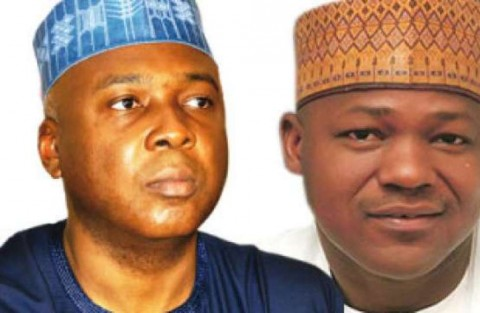 Senate President Bukola Saraki and Speaker of the House of Representtives Dogara