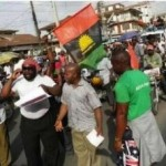Pro-Biafra Protest Turn Violent In Enugu, As Police Tear-gas, Arrest Members